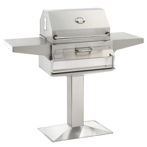 Charcoal Patio Post Mount Grill