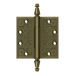 """4-1/2"""" x 4-1/2"""" Square Hinges - Antique Brass"""