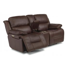Apollo Power Reclining Loveseat with Console & Power Headrests