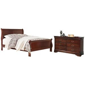 California King Sleigh Bed With Dresser