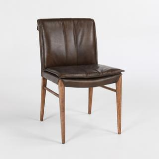 See Details - Mayer Dining Chair Brown w/Wood Frame
