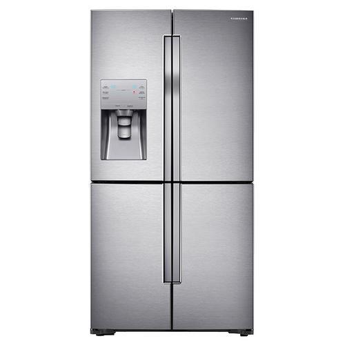 23 cu. ft. Capacity Counter Depth 4-Door Flex Refrigerator with FlexZone (Stainless Steel)