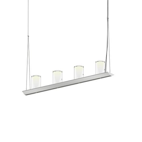 "Sonneman - A Way of Light - Votives LED Bar Pendant [Size=3', Color/Finish=Bright Satin Aluminum, Shade Size=4.5"" height x 2.75"" diameter]"