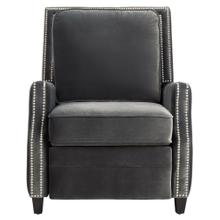 Buddy Velvet Recliner - Charcoal