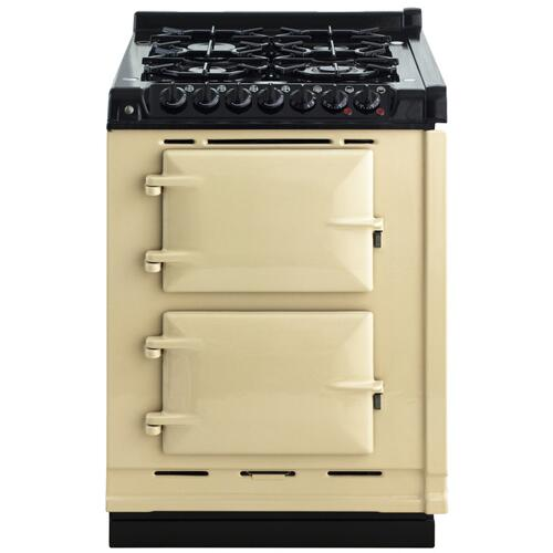 "AGA Module 24"" Electric/Natural Gas Cream with Stainless Steel trim"