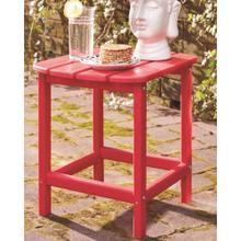 Sundown Treasure Rectangular End Table Red