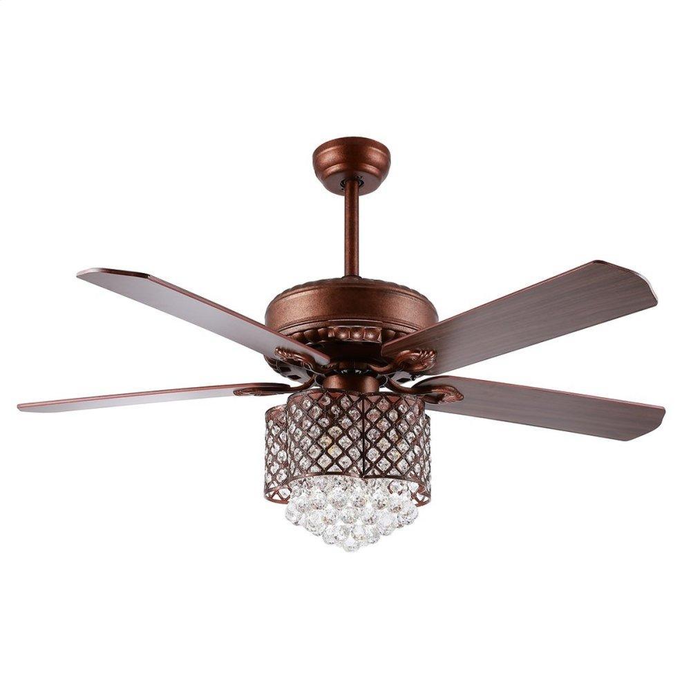 Kelso Ceiling Light Fan - Dark Walnut With Black / Dark Walnut ( Reversible Option)