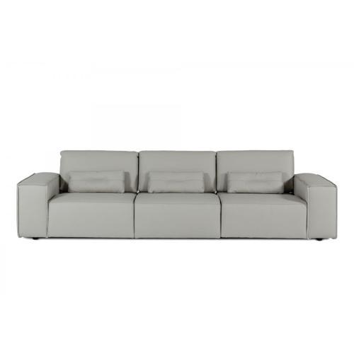 Accenti Italia Enjoy Italian Modern Grey White Leather Sofa