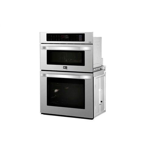LG - LG STUDIO 1.7/4.7 cu. ft. Smart wi-fi Enabled Combination Double Wall Oven