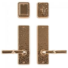 "Hammered Entry Set - 2 1/2"" x 8"" Silicon Bronze Brushed"