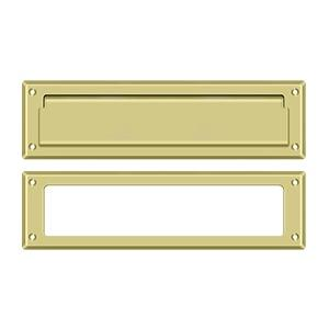 """Deltana - Mail Slot 13-1/8"""" with Interior Frame - Polished Brass"""