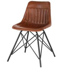 Garren Leather Chair, Ale Brown