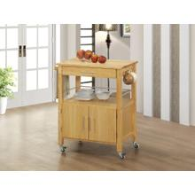 RED HOT BUY! Sunset Trading Vancouver Kitchen Cart in Natural Finish