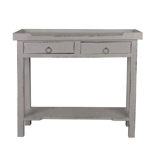 CC-TAB2284LD-AG  Console Table  Distressed Antique Gray