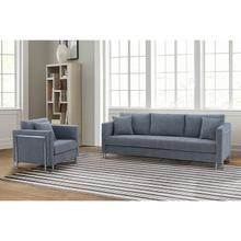 Product Image - Heritage 2 Piece Gray Fabric Upholstered Sofa & Chair Set