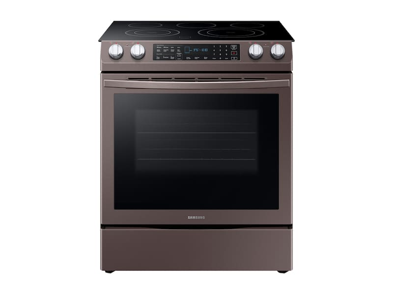 Samsung5.8 Cu. Ft. Slide-In Electric Range In Tuscan Stainless Steel