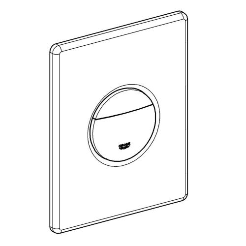 Universal (grohe) Cover Plate With Push Button