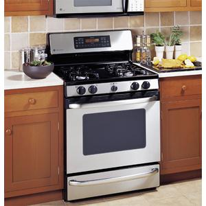 "GE Profile Spectra 30"" Free-Standing Self Clean Convection Gas Range with Warming Drawer"