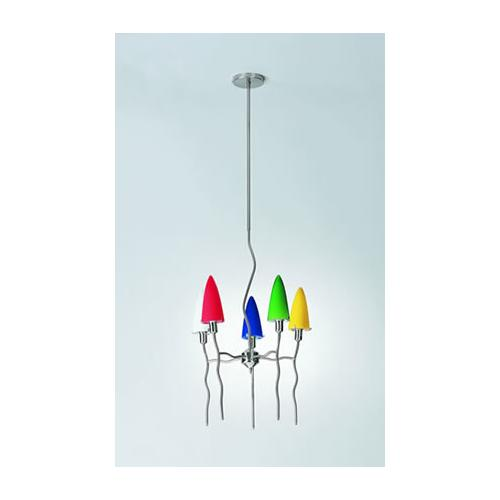 5-lite Ceiling Lamp, Ps/frost 60wx5/b Type