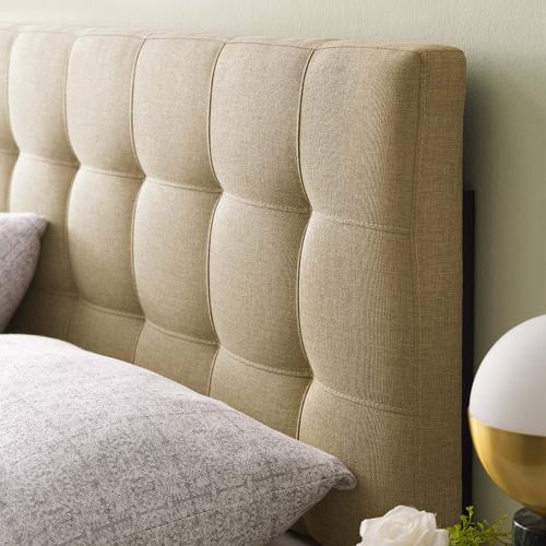 Modway - Lily King Upholstered Fabric Headboard in Beige