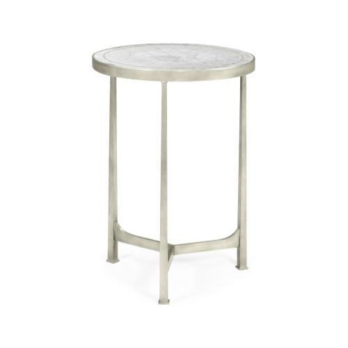 glomise & Silver Iron Round Lamp Table