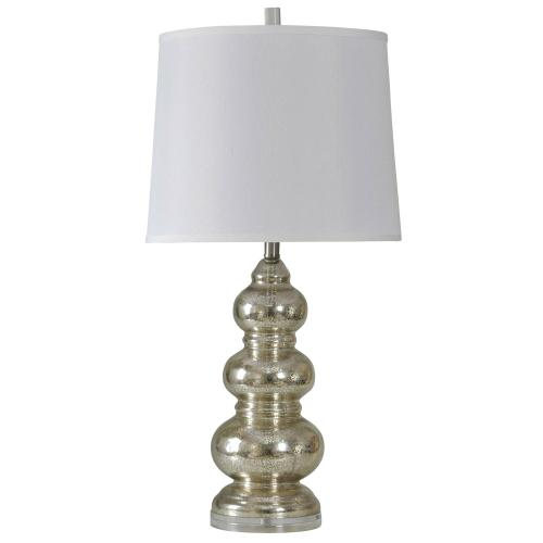 L39172  NORTHBAY  34in X 15in  Glass Body Lamp with Fabric Shade