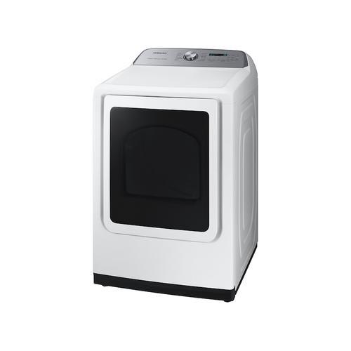 Samsung - 7.4 cu. ft. Smart Gas Dryer with Steam Sanitize+ in White
