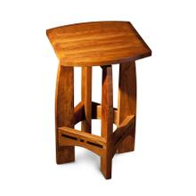 "Aspen Backless Swivel Barstool with Inlay, Aspen Backless Swivel Barstool with Inlay, No Back, 18""h"