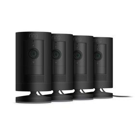 4-Pack Stick Up Cam Plug-In - Black