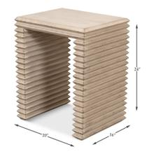 See Details - Stacked Side Table, Stone Grey