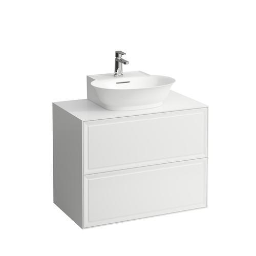 White Matte Drawer element 800, 2 drawers, matches small washbasin 816852