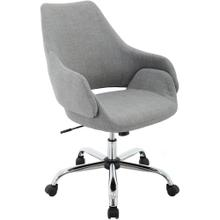 "Hanover Everson 17.75-20.75"" Gas Lift, Wheeled Office Chair in Gray, HOC0003"