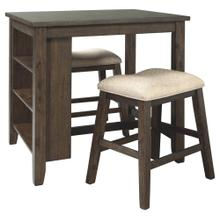 3 Piece Set (Small Pub Table and 2 Stools)