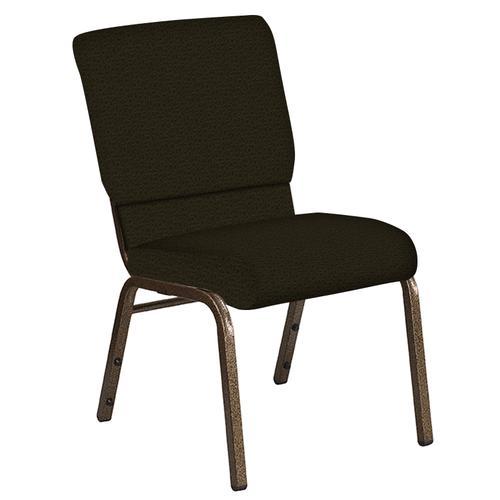 Flash Furniture - 18.5''W Church Chair in Mirage Mint Cider Fabric - Gold Vein Frame