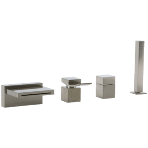 Quarto 4-Hole Deck Mount Tub Filler, Lever Control, Brushed Nickel Product Image