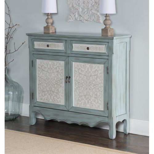 2-drawer and 2-door With Shelves Inside Console, Blue and White
