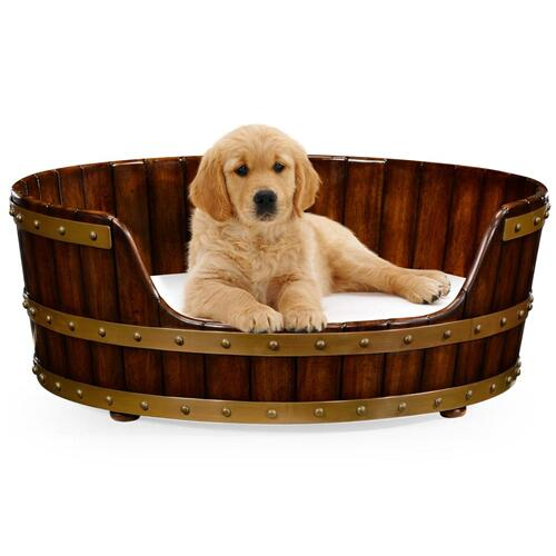 "Walnut wooden dog bed 32"""