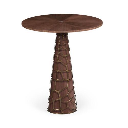 "40"" Circular Natural Walnut Bar Table"