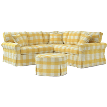 725 LSF Loveseat 25 Corner Wedge 725 RSF Loveseat Round Ottoman
