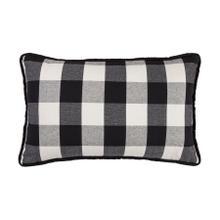 Blackberry Black & White Buffalo Check Lumbar Pillow, 16x26