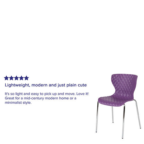 Flash Furniture - Lowell Contemporary Design Purple Plastic Stack Chair