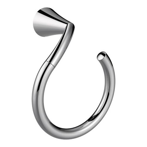 Glyde chrome towel ring