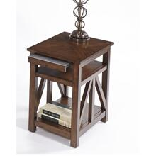 See Details - Chairside Table - Sunset Birch Finish