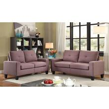 "71"" Chocolate Linen Platinum Sofa And Loveseat"