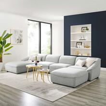 Comprise 6-Piece Living Room Set in Light Gray