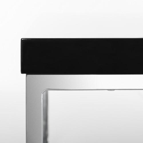 Malone Chrome High Gloss Coffee Table - Black / Chrome