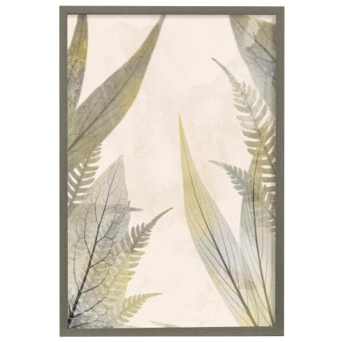 Style Craft - Prehistoric Sunrise II  Made in USA  Artist Print  Faux Wood Frame Under Glass  Attached Hanging