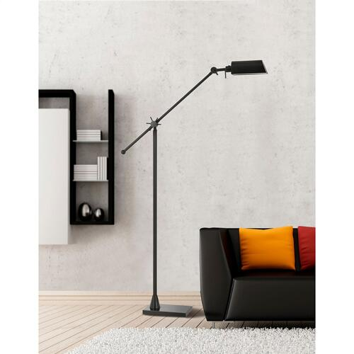 7W, 450 Lumen, 3000K LED Adjust Able Metal Floor Lamp With Metal Shade