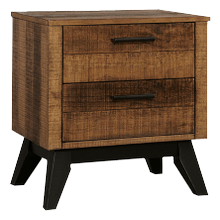 See Details - Urban Rustic Nightstand  Brushed Wheat Brushed Wheat