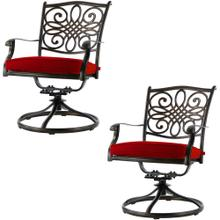 Hanover Set of 2 Traditions Swivel Rockers with Red Cushions, AAF06001F04-2
